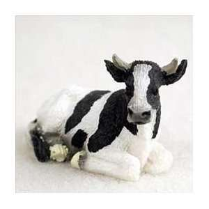 Holstein Bull Miniature Figurine: Home & Kitchen