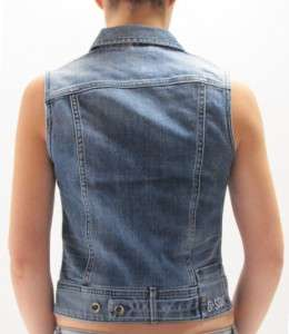 Star Jacket Midge Sleeve Less Comfort Pier Denim Blue Women New