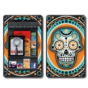 Kindle Fire Skins Kit   Sugar Skulls Dia de los Muertos   Skins