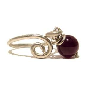 Ring 02 Wire Wrap Purple Crystal Healing Stone Adjustable Jewelry