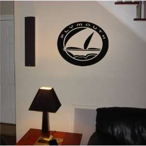 GARAGE WALL CHRYSLER PLYMOUTH LOGO DECAL STICKER ART 04