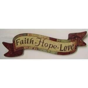 Faith Hope Love Wall Art Banner Decorative Hanging