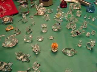 SWAROVSKI CRYSTAL COLLECTION Huge 1980s figurines ornaments candle