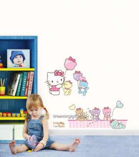 HELLO KITTY & TINY CHUM KIDS Adhesive Removable Wall Decor Accents