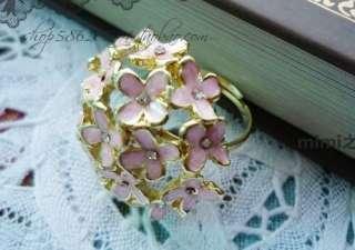 New Lots 12Pcs Fashion Flower Crystal Rhinestone Rings
