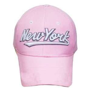 NEW YORK CITY NYC PINK LADY NY CAP HAT EMBROIDERED ADJ