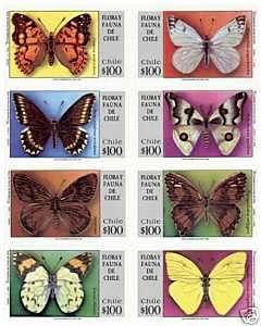 Chile 1994 FLORA Y FAUNA DE CHILE Butterflies