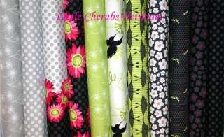 Michael Miller Flora Fauna Dandelion Turq Fabric by yd
