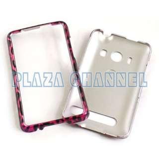 Pink Leopard Skin Hard Case Cover For Sprint HTC EVO 4G