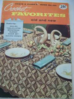 & Clarks Crochet Favorites Pattern Book Tablecloth Bedspread