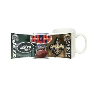 vs New Orleans Saints Super Bowl XLIV 44 COFFEE MUG Sports & Outdoors