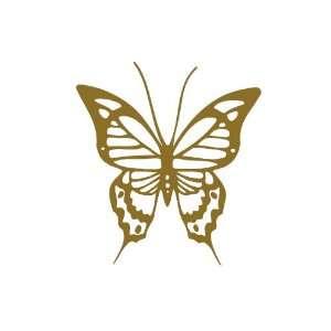 Butterfly GOLD vinyl window decal sticker