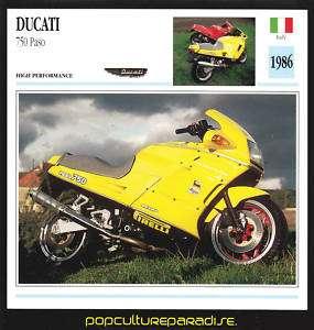 1986 DUCATI 750 Paso Italian Bike MOTORCYCLE PHOTO CARD