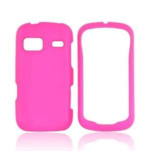 For LG Rumor Reflex Hot Pink Hard Rubberized Snap On Shell