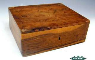 Fine Antique Olive Wood Jewelry Box, Palestine, Ca 1900