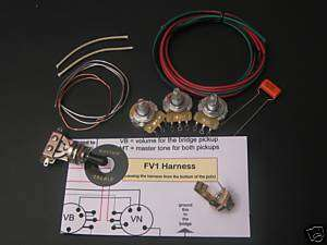 DIY Flying V Guitar Wiring Harness Kit   #KI FV1