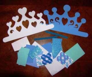 Winter Princess Tiara Crown Foam Craft Kit Snowflake |
