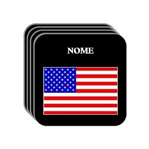US Flag   Nome, Alaska (AK) Set of 4 Mini Mousepad