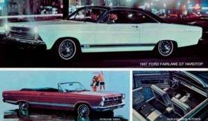 1967 FORD FAIRLANE GT HARDTOP AND 500/XL CONVERTIBLE