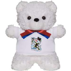 Teddy Bear White Christmas Holiday Snowmen Are Cool