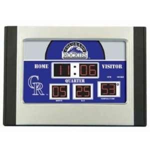 Colorado Rockies Scoreboard Desk Clock NFL Football Fan Shop Sports