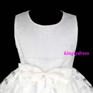 NEW Flower Girl Wedding Party Pageant Bridesmaid Princess Dress Ivory