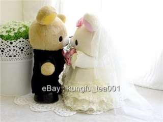gallery now free san x rilakkuma relax bear wedding doll plush toy 8