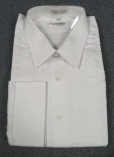 New Mens White Fumagalli Laydown Collar Tuxedo Shirt