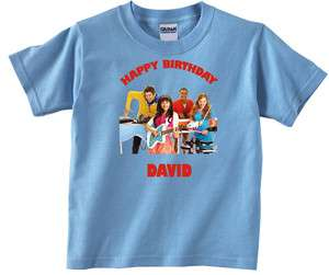 Personalized The Fresh Beat Band Birthday Light Blue or Pink Shirt