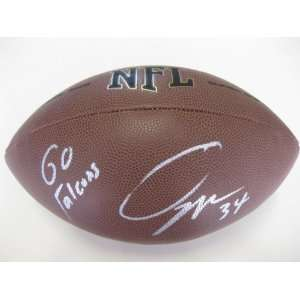 OVIE MUGHELLI ATLANTA FALCONS,SIGNED NFL FOOTBALL + COA WITH PROOF PIC