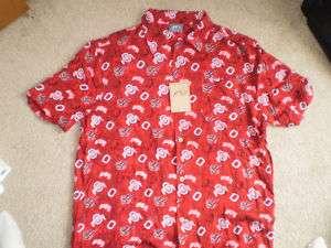 NEW Ohio State OSU Buckeyes Hawaiian Shirt   M L XL 2X