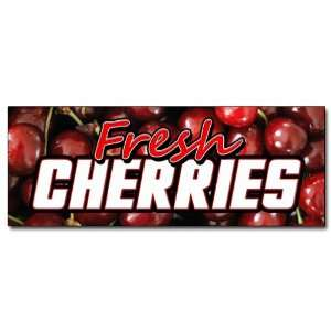 12 FRESH CHERRIES DECAL sticker cherry fresh fruit