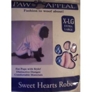Dog Sweet Hearts Robe XL Costume or Special Apparel Pet