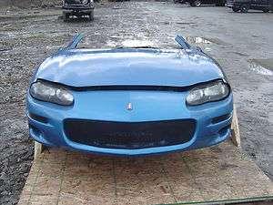 Camaro SS Z28 LS1 OEM Blue Front Clip Nose Fenders Hood Bumper