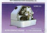 5KW marine genset, KUBOTA diesel power, ULTRA COMPACT