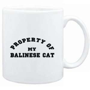 Mug White  PROPERTY OF MY Balinese  Cats Sports