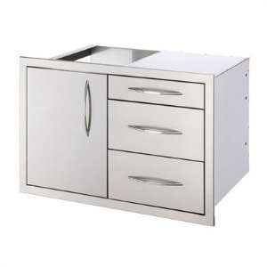 OCI OCI32CU 32 Combination Drawer   Stainless Steel: Patio