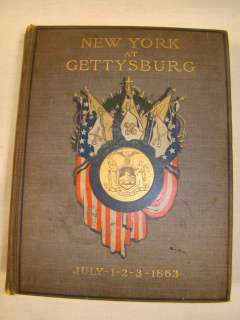 Antique CIVIL WAR Old NEW YORK at GETTYSBURG 3 VOLUME Set BOOKS July 1