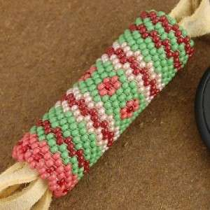 Native American Indian Beaded Key Ring Fob by Ralph Gallapoo
