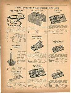 1950 California Pocket Gopher Trap Blake Lamb Steel ad