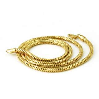 Cool Mens 24K Yellow Gold Filled Rope Necklace 24