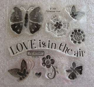 CLOSE TO MY HEART Acrylic Stamps FLUTTERING LOVE B1264