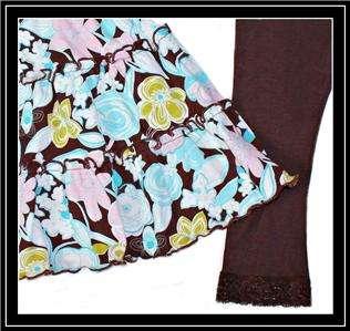 Baby Nay ~ Boutique Girls Long Sleeve Ruffle Dress Capri Leggings 2T