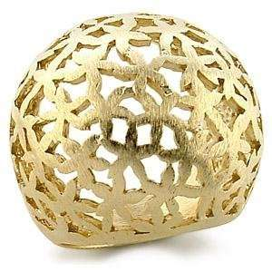 Solid Gold Plated Brass Ring with Multiple Star Shaped Design   Size