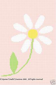 Crochet Patterns   DAISY FLOWER Graph Afghan Pattern