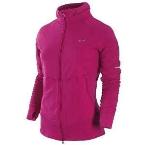 Nike Womens Dri Fit Knit Running Track Jacket Pink Size