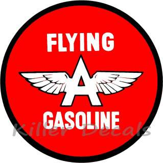FLYING A GASOLINE DECAL GAS AND OIL GAS PUMP SIGN, WALL ART STICKER