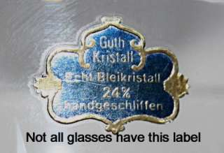 HTF ELEGANT GUTH HAND CUT FULL LEAD CRYSTAL CHAMPAGNE/SHERBET GLASS