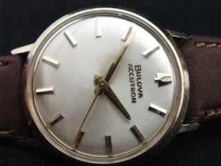 Men 214H Bulova Accutron Swiss Wrist Watch 1964 Running Hacking