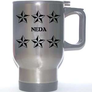 Personal Name Gift   NEDA Stainless Steel Mug (black